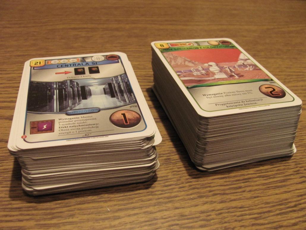 Dużo kart projektów.